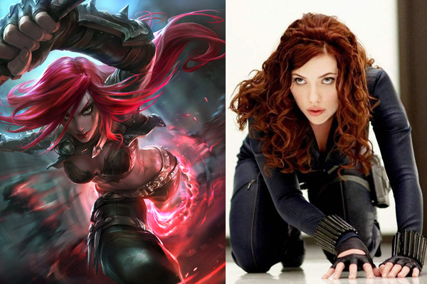 scarlett johansson as katarina league of legends movie