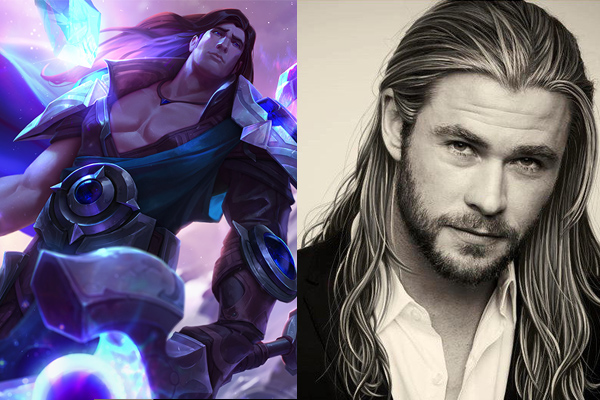 chris hemsworth as taric league of legends movie