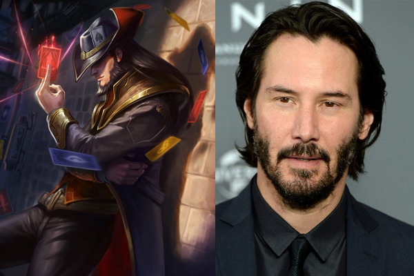 keanu reeves as twisted fate league of legends movie