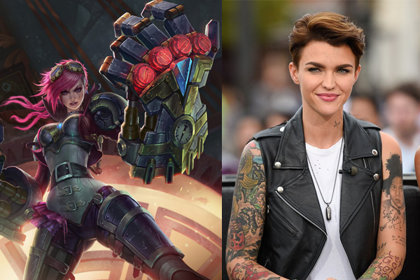 ruby rose as vi league of legends movie