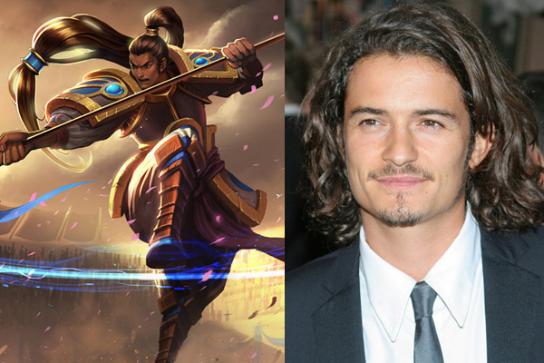 orlando bloom as xin zhao league of legends movie