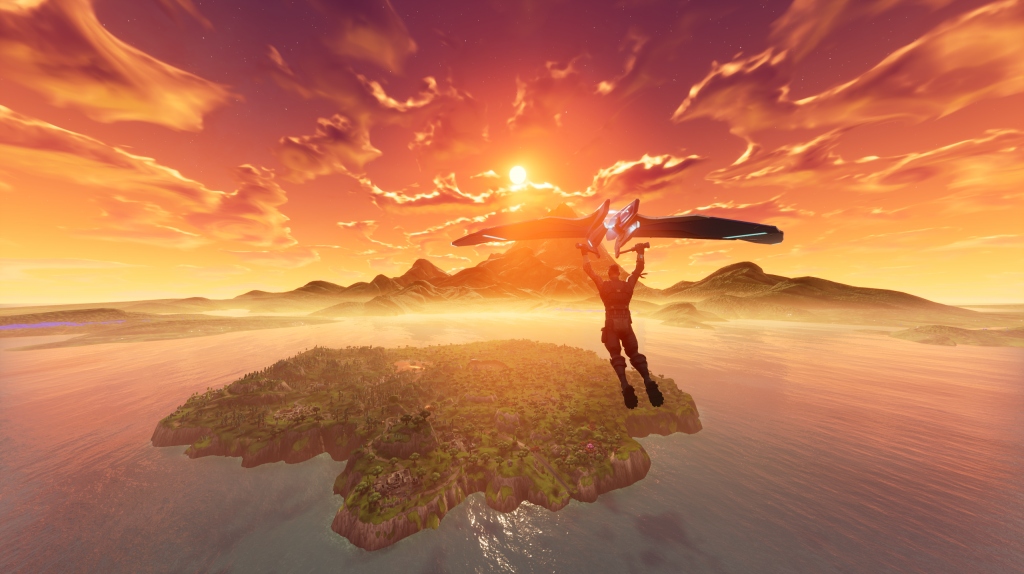 fortnite cool esports game sunset